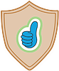 Simply Donating Thank You badge