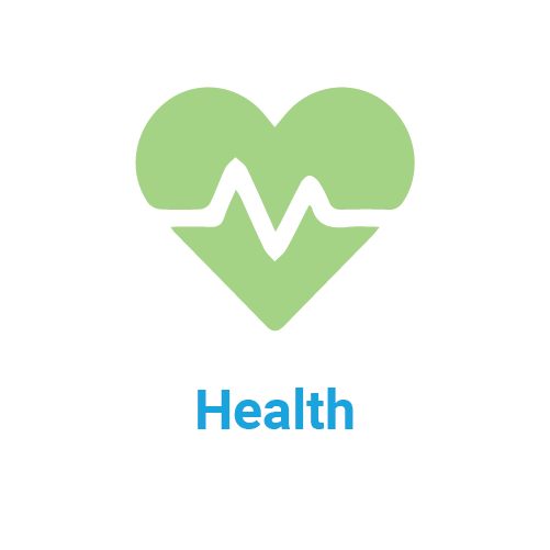 health icon and title