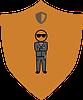 Domestic Violence Prevention Bodyguard badge