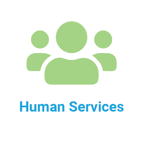 human services icon and title
